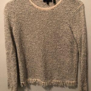 Theory Textured Fringe Sweater